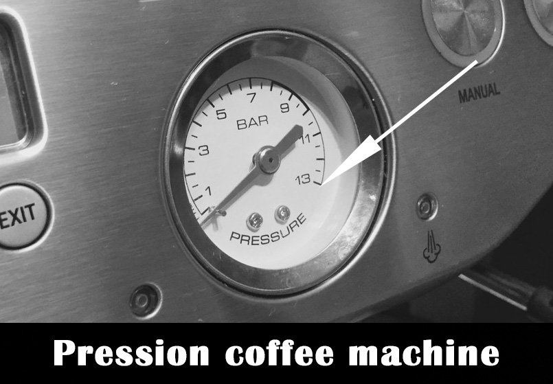 Pression coffee machine