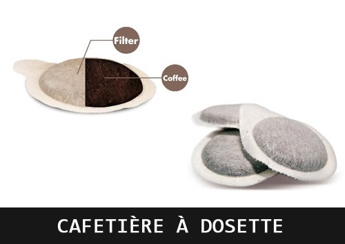 cafetière à dosettes souples