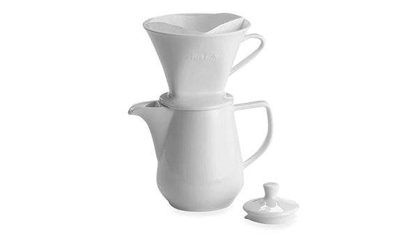 Melitta Coffee Maker, Porcelain 6 Cup Pour Over Brewer 1