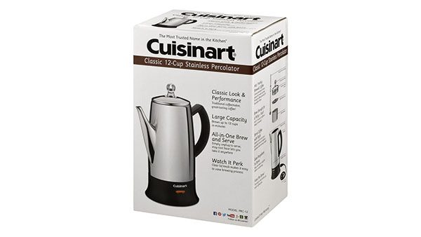 Cuisinart PRC-12 Classic 12-Cup Stainless-Steel Coffee Percolator